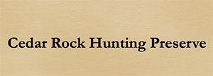 Cedar Rock Hunting Preserve Logo