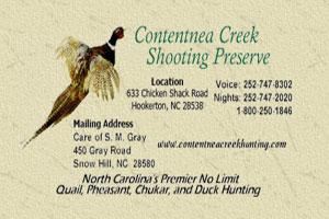 Directory of North Carolina Deer Hunting Lodges, Outfitters