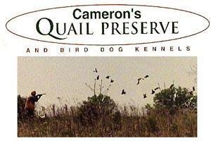 Cameron's Quail Preserve Logo