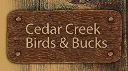 Cedar Creek Birds & Bucks Logo