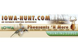 Iowa Pheasants 'N More Hunting Lodge Logo