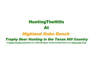 Highland Oaks Ranch