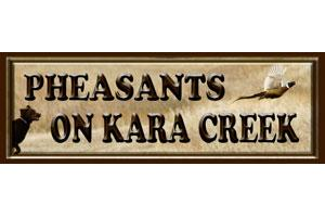 Pheasants on Kara Creek Logo