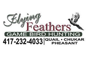 Flying Feathers Game Bird Hunting Logo