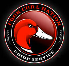 Four Curl Nation Guide Service Logo