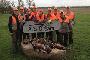 Al's Dream Pheasant Hunting Logo