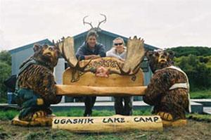 Gus Lamoureux's Ugashik Lake And Kodiak Bear Camp Logo