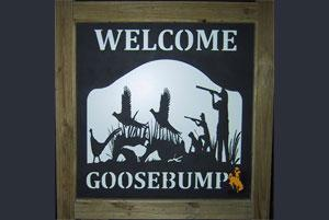 Goose Bump Bird Hunting Lodge