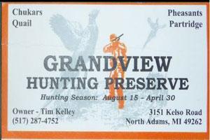 Grandview Hunting Preserve Logo