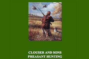 Clouser & Sons Pheasant Hunting Logo